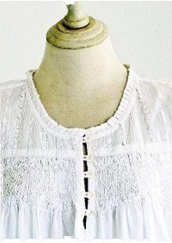Women's white cotton nightwear Stephanie