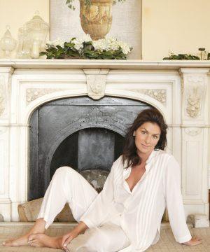 Luksusowa damska jedwabna piżama Carla