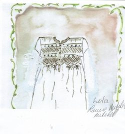 Louise's painting of cotton nightwear Lola