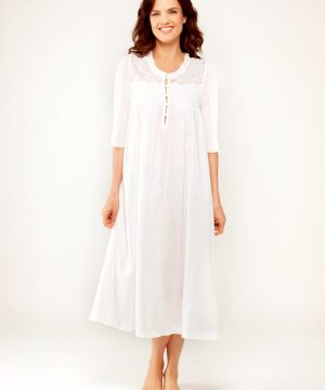 Plus size women's cotton nightgown Caroline. Cotton nightgowns for women.