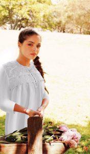 Plus size cotton sleepwear Caroline 3/4 sleeves