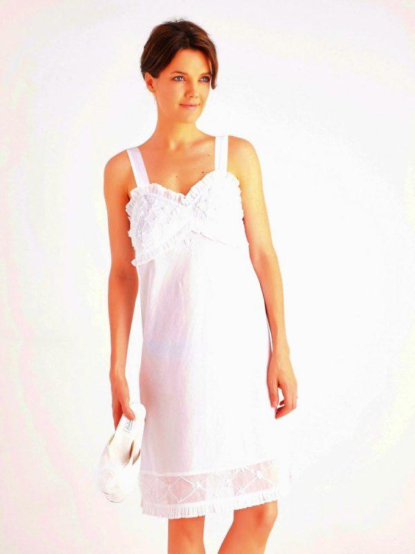 Sexy cotton nightie Elizabeth. Cotton nightgown.