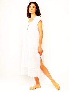 Cotton sleepwear for women Rose Trellis sleeveless. women's cotton sleepwear.