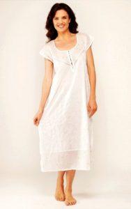 Cotton sleepwear for women Rose Trellis sleeveless. Women's cotton nightgown.