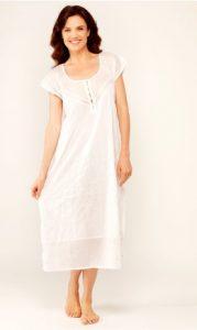 Cotton sleepwear for women Rose Trellis. Cotton nightgowns.