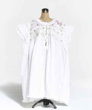 Girl's cotton nightgown Enfant Bouquet of flowers. girl's cotton sleepwear
