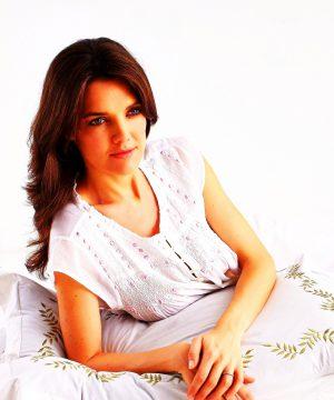 Women's cotton nightgown Stephanie cap sleeves. Women's cotton nightgown .