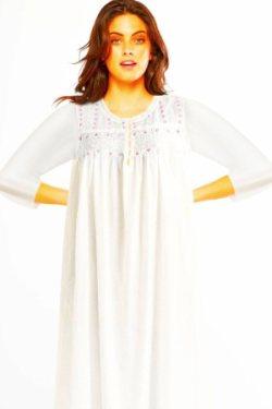Luxury cotton nightgown .Stephanie