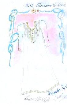 Women's luxury silk sleepwear, Alexandra