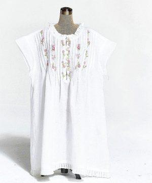 Girl's cotton nightie Enfant Ribbons of flowersw. Girl's cotton sleepwear