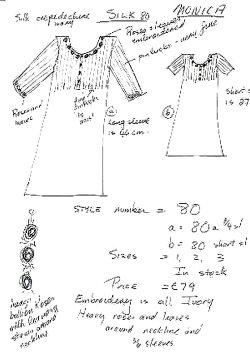 Comfortable women's silk nightgown monica