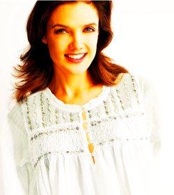 Luxury cotton nightgown for women Stephanie, luxury cotton sleepwear