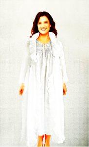 Women's cotton robe /dressing gown Marie Antoinette