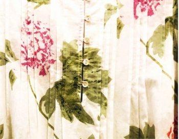 Peony cotton fabric sample for Sunday Rose