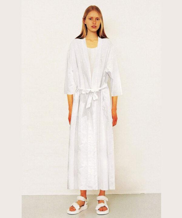 White-cotton-robe-White-Queen-in-luxury-Swiss-Dot-cotton