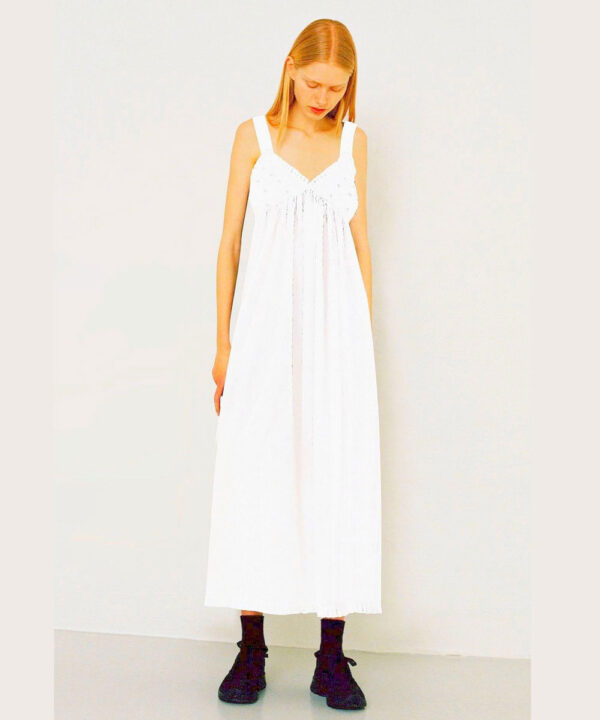 Womens Swiss Dot cotton nightie Snow Fairy with straps.