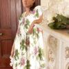Peony Alexandra luxury silk nightgown cap sleeves