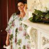 Peony Alexandra luxury silk nightgown