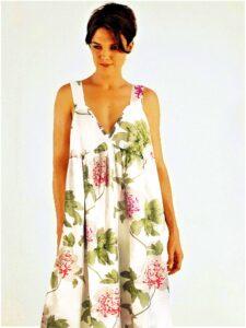 Peony Angel Eyes luxury silk nightgown